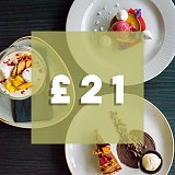 3 course dinner for £21