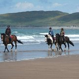 Pony trekking on the beach