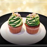 Fruit and Nut Christmas Tree Cupcake Recipe