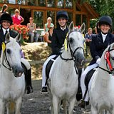Horse riding at Budleigh Salterton School
